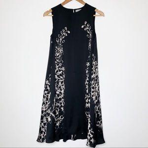Mulberry 100% Silk Black Sleeveless Dress (2)